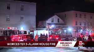 Firefighters battle 3-alarm blaze at Worcester home [Video]