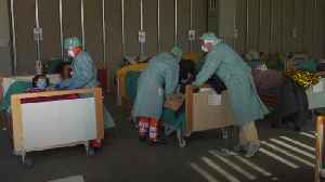 Makeshift hospital set up in Italy for coronavirus cases [Video]