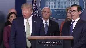 Donald Trump on coronavirus response: We are going big [Video]
