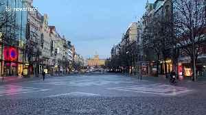 Empty streets as Prague's COVID-19 lockdown tightens [Video]