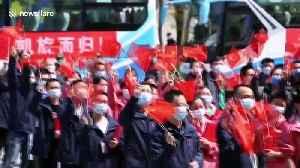 Emergency medical workers return home from Wuhan as coronavirus begins to subside in Chinese city [Video]