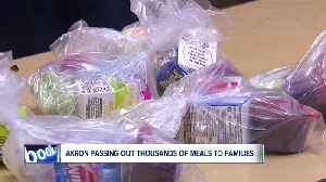 Akron Public Schools handing out thousands of meals to students on extended break [Video]