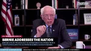 Bernie Sanders talks about ''unprecedented' crises [Video]