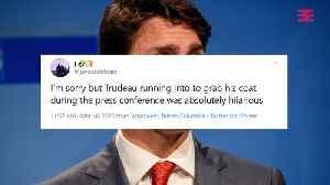 Justin Trudeau et son manteau volent la vedette durant son point de presse (VIDÉO) [Video]