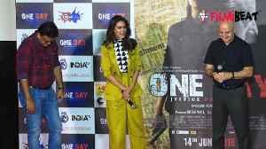 Esha Gupta praises Anupam Kher at One Day trailer launch [Video]