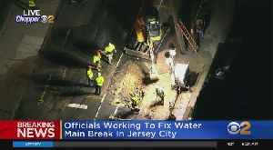 Breaking: Water Main Break In Jersey City [Video]
