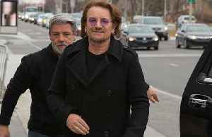 News video: U2's Bono gives debut performance of new song via live-stream