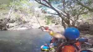 Girl Faceplant Hard on Water's Surface as Rope Swing Snaps Back [Video]