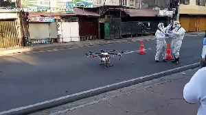 Drone disinfects street in the Philippines to fight coronavirus [Video]