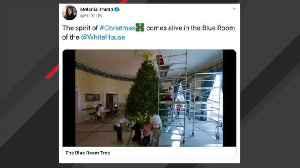 Melania Trump Shares Christmas Tree Timelapse From White House's Blue Room [Video]