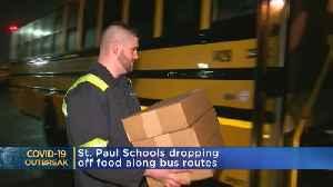 Coronavirus in Minnesota: School Buses Becoming Food Delivery Trucks [Video]
