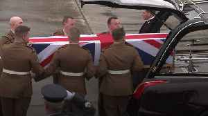 Body of British soldier killed in Iraq returned home [Video]