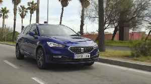 The all-new Seat Leon Sportstourer XCellence Mistery Blue Driving Video [Video]