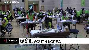 Volunteers in South Korea bid to help by making face masks [Video]