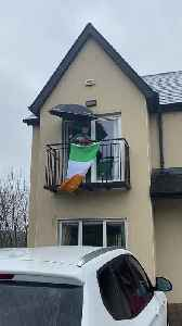 Irishman Doesn't Let Quarantine Ruin His Spirit [Video]