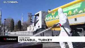 Disinfection of Istanbul's historic Sultanahmet district [Video]