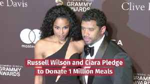 Russell Wilson And Ciara Pledge Big Donation [Video]