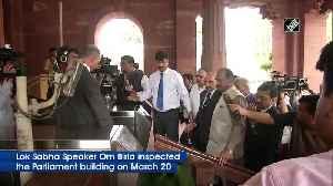 LS Speaker Om Birla inspects Parliament building in wake of coronavirus outbreak [Video]