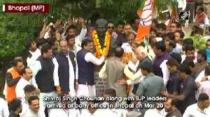 Shivraj Chouhan along with BJP leaders celebrate after Kamal Nath resigns [Video]