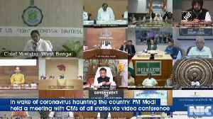 COVID-19 Jharkhand CM Hemant Soren attends all state CM meeting with PM [Video]