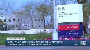News video: Health care workers fear infection due to lack of safety equipment