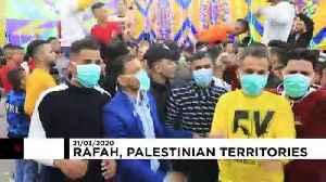 Palestinians in Gaza celebrate a dancing wedding despite coronavirus [Video]