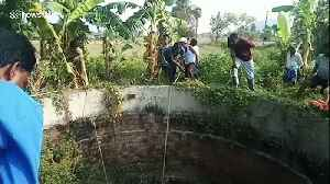 Locals use ropes to rescue deer from bottom of farm well in India [Video]