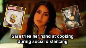Sara tries her hand at cooking during social distancing [Video]