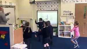 UK primary school students and teachers join in during virtual PE lessons [Video]