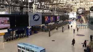 Waterloo Station almost empty at rush hour during coronavirus outbreak