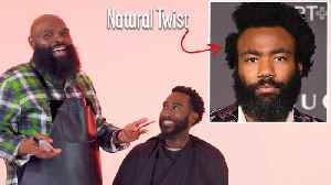 Donald Glover's Natural Twists with a Part Haircut Recreated by a Master Barber [Video]