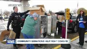 Community donations help in fight against covid-19 [Video]