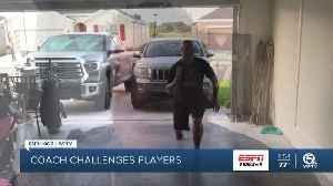 John Carroll head coach Mickey Groody challenges his team during the Coronavirus [Video]