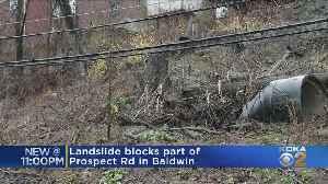 Landslide Closes Part Of Road In Baldwin [Video]
