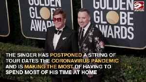 Sir Elton John enjoying family time [Video]