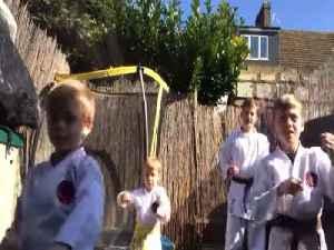 Virtual karate lessons keep kids busy through lockdown [Video]