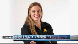 Minnesota swimmer keeps reality in perspective [Video]