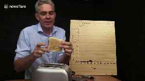Australian science teacher uses bread and toaster to demonstrate the exponential growth of COVID-19 [Video]