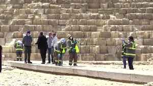 News video: Egypt disinfects ancient pyramids