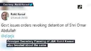 News video: Central Govt revokes PSA detention of Omar Abdullah