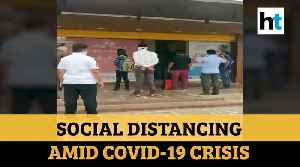 Coronavirus: Circles drawn outside grocery stores to maintain social distancing [Video]