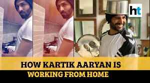 Coronavirus: Kartik Aaryan washes dishes, practices monologues during lockdown [Video]
