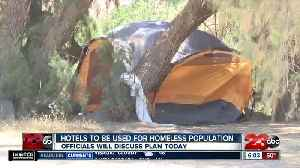 News video: Local officials discussing ways to use hotels to house homeless people during coronavirus outbreak