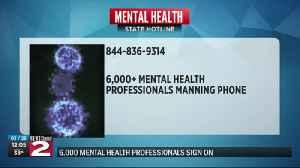 News video: Mental health hotline available