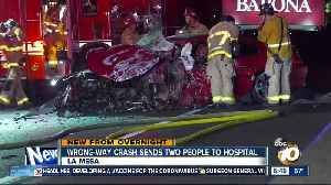 Wrong-way crash on I-8 sends 2 to hospital [Video]