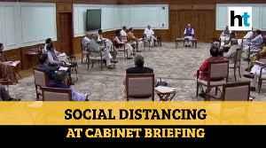 Coronavirus: PM Modi, ministers practice social distancing at cabinet meeting [Video]