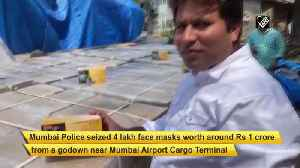 News video: 4 lakh mask worth Rs 1crore seized by Mumbai Police