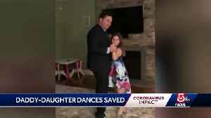 Fathers holding at-home daddy-daughter dances [Video]