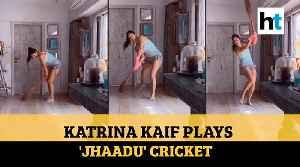 Coronavirus: Katrina Kaif sweeps floor, plays 'jhaadu' cricket amid lockdown [Video]
