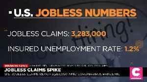 U.S. Jobless Claims Hit 3.3 Million, Quadruple Previous Record [Video]